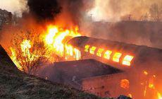 Incendiu puternic la Gara Oravița. Este una din cele mai vechi din țară |FOTO
