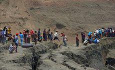 Accident înfiorător într-o mină de jad din Myanmar. Zeci de mineri, îngropați de vii după prăbușirea unui iaz de decantare