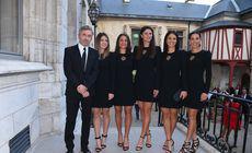 Ce ținute sexy și elegante au ales să poarte fetele din echipa de Fed Cup a României în Franța