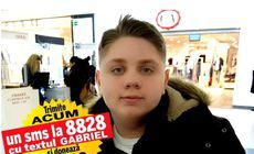 Gabriel, care suferă de sindromul Klippel-Trenaunay, va ajunge la medicii francezi peste câteva zile. Pentru a fi operat și tratat, băiatului de 15 ani îi trebuie 200.000 de euro