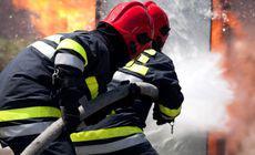 Incendiu la o pensiune din Zărneşti. Restaurantul a ars aproape în totalitate