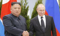 FOTO & VIDEO | Kim Jong-un și Vladimir Putin s-au întâlnit pentru prima dată. Subiectele discutate de cei doi lideri