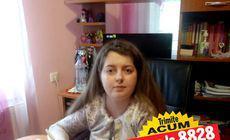 Înainte de plecarea în Germania, Andreea a suferit o criză puternică. Tratamentul fetiței, care de zece ani se luptă cu o tumoră cerebrală, costă 9.000 de euro