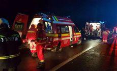 Carambol cu un autobuz și două mașini, la Mioveni. Trei persoane au fost rănite
