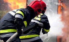 Incendiu violent într-un bloc din Buzău. Un bărbat a murit, iar alte două persoane au fost rănite