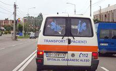 Ambulanță cu probleme… gramaticale, în Oradea. Ce scrie pe portiera din spate |FOTO