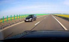 """O șoferiță a condus pe contrasens pe autostrada A3. """"Sper că nu a ucis pe nimeni"""" / VIDEO"""