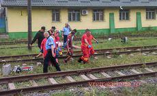 Un bărbat a încercat să se sinucidă în gara din Vaslui. S-a aruncat de pe pasarela unde a murit o femeie