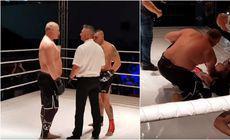 Socant! Tolea a intrat in ring cu liderul mafiei fierului, iar adversarul a iesit pe targa