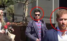 Reactia lui Harry cand un fan a vrut sa-i dea flori lui Meghan. Bodyguard-ul a intrat in alerta