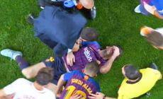 VIDEO + FOTO Camp Nou a amuțit! Leo Messi, accidentare GROAZNICĂ în meciul cu Sevilla » Camerele TV l-au surprins urlând de durere