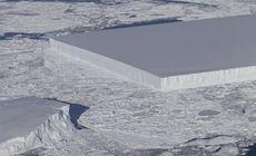 Misterul aisbergului care pare tăiat intenționat în formă de dreptunghi, lămurit de NASA