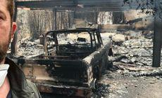 Casa unui mare actor, distrusa de foc. Le-a multumit pompierilor desi n-au putut face nimic