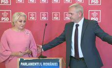 """Dragnea a venit cu Dăncilă la declarații, dar n-a lăsat-o să spună nimic. """"Haideți!"""""""