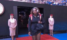 GAFA URIASA: Ce s-a auzit de la statie in momentul in care a iesit Serena pe arena! Halep a inceput sa rada