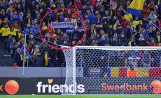 Explicațiile Jandarmeriei Române în scandalul mesajelor anti-PSD interzise la stadion