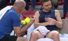 """Simona Halep, nervoasă la antrenamentul de azi: """"Bă, gândește! Du-te, bă!"""""""