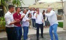 VIDEO CS U Craiova, petrecere vulgară cu lăutari! Imagini controversate din Bănie: patronul Mihai Rotaru și Nicușor Bancu le înjură pe FCSB, Dinamo și Rapid!