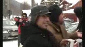 Video / Lucian Bute a tăiat porcul la Buşteni