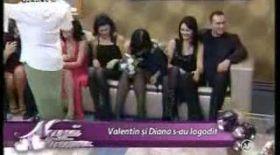 Valentin şi Diana, reacţii după logodnă