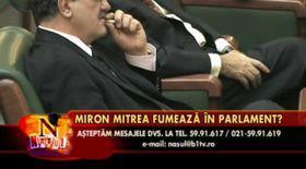 VIDEO / Mitrea fumează şi în Parlament