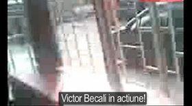 Video / Victor Becali îşi face dreptate cu pumnul