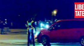 Un poliţist era să fie călcat de  maşina pe care o oprise în noaptea de Înviere