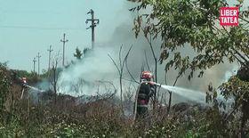 Incendiu în Pipera, lângă şoseaua Petricani