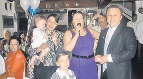 Cornelia Catanga a încântat la botezul lui Darius Dolănescu