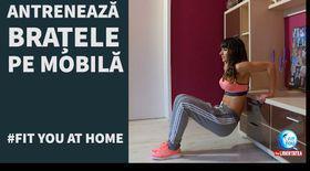 FIT YOU AT HOME ! Lucrăm braţele cu Antrenor Diana Stejereanu