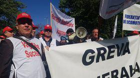 Protest al sindicatelor din căile ferate