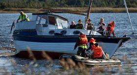 Bărbat aflat pe o barcă pneumatică a fost salvat din largul mării, la Mangalia, de către pompieri
