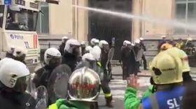 VIDEO| Protest violent la Bruxelles