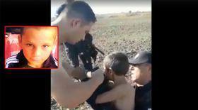 Momentul în care băiețelul de 6 ani din Rast, care dispăruse de acasă, a fost găsit