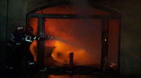 Incendiu la o fabrică de mobilă din Târgoviște
