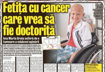 Ana Maria a învins cancerul! Fetiţa mai are nevoie de ghete ortopedice şi de orteze