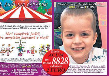 Eveniment caritabil pentru Cătălin Căloiu. Băiatul bolnav de leucemie are nevoie de bani pentru finalizarea tratamentului