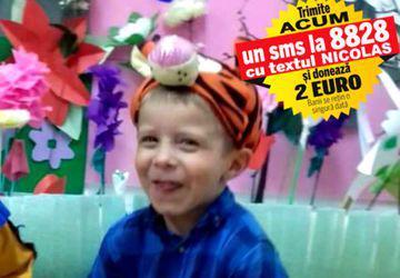 La numai cinci anișori, inima lui Nicolas poate ceda în orice moment. Băiețelul, născut cu o malformație cardiacă, are nevoie urgent de 1.000 de lei pentru un control de specialitate