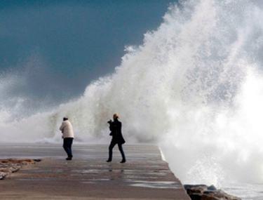 Furtună puternică în Barcelona