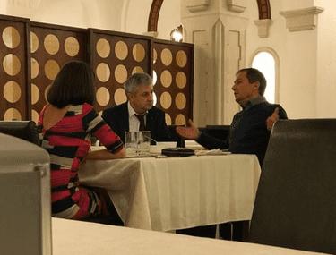 Florin Iordache, la restaurant cu Daniel Morar (CCR)