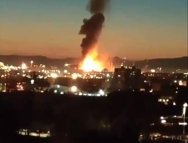Explozie puternică la o uzină chimică din Spania. A fost declanșată alerta chimică