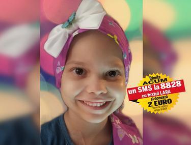 Pentru a supraviețui, Lara are nevoie de 1.500.000 de dolari. Fetița de cinci ani care se luptă cu leucemia trebuie să facă un tratament de lungă durată în SUA