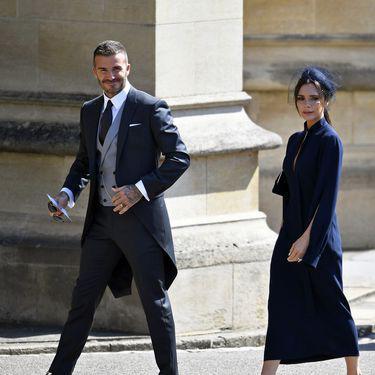 Victoria și David Beckham la nunta regală (Hepta)