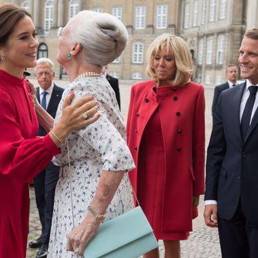Prințesa Mary a Danemarcei și Brigitte Macron