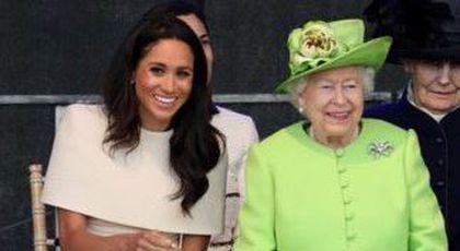 Prințesa Meghan a făcut internetul să explodeze după ce i-a făcut Reginei