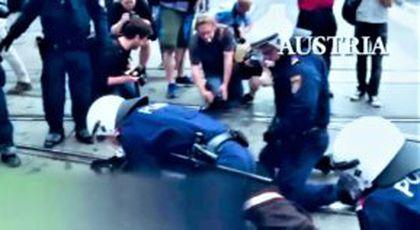 Clipul penibil prin care Jandarmeria justifică violențele e făcut prin furt