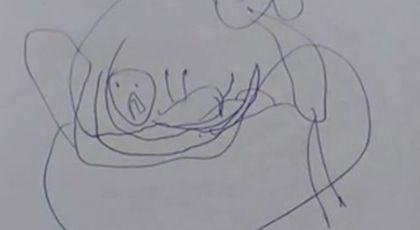 Parintii sunt in stare de soc dupa ce au gasit acest desen in ghiozdanul fetitei lor