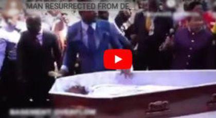 O filmare cu un preot care învie pe cineva la înmormântare face înconjurul internetului și a declanșat o adevărată provocare pe net