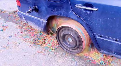 A pus elastice din cauciuc în loc de anvelope!!! Ce s-a întâmplat?