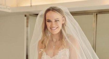 FOTO Caroline Wozniacki și David Lee s-au căsătorit în Toscana
